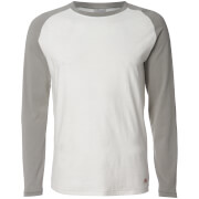 Jack & Jones Men's Originals New Stan Raglan Long Sleeve Top - Griffin/Cloud Dancer