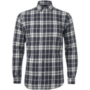 Jack & Jones Men's Originals Bravo Long Sleeve Check Shirt - Peacoat