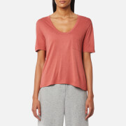 T by Alexander Wang Women's Cropped T-Shirt with Chest Pocket - Fig