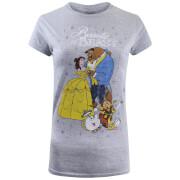 T-Shirt Femme La Belle et la Bête - Gris