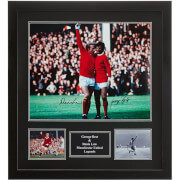 George Best and Denis Law Dual Signed and Framed 16 x 20 Photograph