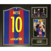 Lionel Messi Signed and Framed Barcelona Shirt