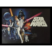 Star Wars Framed Poster Signed by Dave Prowse (Darth Vader)