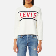 Levi's Women's Raw Graphic Sweatshirt - Fleece Sport Marshmallow