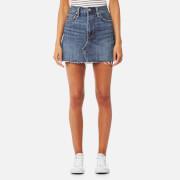 Levi's Women's Deconstructed Mini Skirt - War Torn Blues