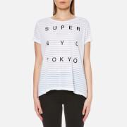 Superdry Women's NYC Burnout Stripe Boyfriend T-Shirt - Optic White