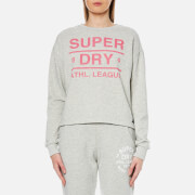 Superdry Women's Athletic League Loopback Crew Sweatshirt - 90's Athletic Grey Marl