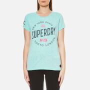 Superdry Women's City of Dreams T-Shirt - Aquamarine