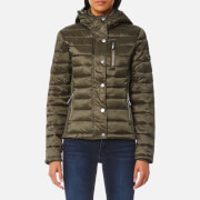 Superdry Women's Luxe Fuji Zip Hoody - Metallic Olive