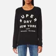 Superdry Women's Applique NY Raglan Crew Jumper - Black