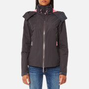 Superdry Women's Hooded Cliff Hiker Coat - Dark Charcoal/Sugar Pink