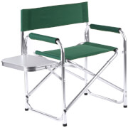 Premier Housewares Folding Garden Chair with Shelf - Green
