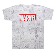 Marvel Men's Champions Sub T-Shirt - White