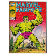 Marvel Vintage Retro Hulk Printed Canvas Wall Art
