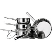 Premier Housewares 5 Piece Saucepan Set - Stainless Steel
