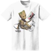 Marvel Men's Guardians of the Galaxy Vol.2 Baby Groot T-Shirt - White