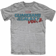Marvel Men's Guardians of the Galaxy Vol. 2 Logo T-Shirt - Grey