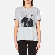 Karl Lagerfeld Women's Karl Polaroid Signature T-Shirt - Grey Melange