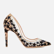 Rupert Sanderson Women's Twilight Star Print Court Shoes - Nude Mesh/Bluebonnet
