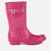 Hunter Women's Original Short Gloss Wellies - Bright Cerise