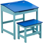 Premier Housewares Children's Desk and Stool - Blue