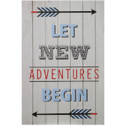 Premier Housewares Kids Let New Adventures Begin Wall Plaque
