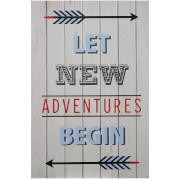 Premier Housewares Kids Let New Adventures Begin Wall Plaque