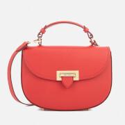 Aspinal of London Women's Letterbox Saddle Bag - Scarlet
