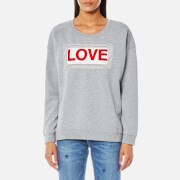 Maison Scotch Women's Love Sweatshirt - Grey Melange