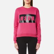 MSGM Women's Logo Sweatshirt - Fuchsia