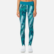 Asics Women's Graphic Tights - Crystal Blue/Condition Print
