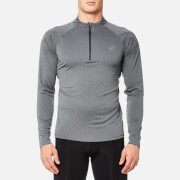 Asics Men's Asics 1/2 Zip Top - Dark Grey Heather/Performance Black