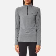 Asics Women's Long Sleeve 1/2 Zip Jersey - Dark Grey Heather