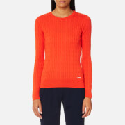 GANT Women's Sporty Cable Crew Neck Jumper - Fiesta Orange