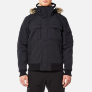 Jack Wolfskin Men's Brockton Point Jacket with Faux Fur Lined Hood - Black
