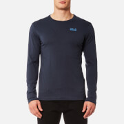 Jack Wolfskin Men's Essential Long Sleeve T-Shirt - Night Blue