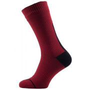 Sealskinz Road Thin Mid Socks with Hydrostop - Red/Black