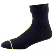 Sealskinz Road Ankle Socks with Hydrostop - Black/Yellow
