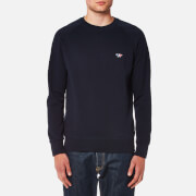 Maison Kitsuné Men's Tricolor Fox Patch Sweatshirt - Navy