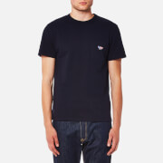 Maison Kitsune Men's Tricolor Fox Patch T-Shirt - Navy