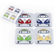 VW Collection Front Set of 4 Coasters - Multi