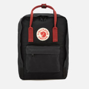 "Fjallraven Kanken Laptop Backpack 13"" - Black/Ox Red"