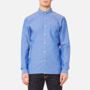 Lacoste Men's Long Sleeve Shirt - Royal/White