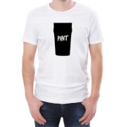 Pint Silhouette Print Men's White T-Shirt