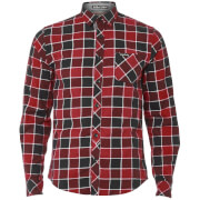Tokyo Laundry Men's Cadillo Flannel Long Sleeve Shirt - Merlot