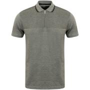 Dissident Men's Henstridge Half Panel Polo Shirt - Grey