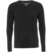 Dissident Men's Helter Mock Layered Long Sleeve Top - Black