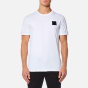 Versace Collection Men's Velcro Logo T-Shirt - Bianco Lana