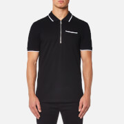 Versace Collection Men's Piping Detail Polo Shirt - Nero