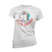 T-Shirt Licorne Tueuse/ Killer Unicorn -Blanc